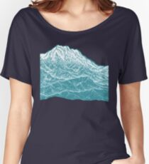 Distant Snow- 遠雪 : linocut Women's Relaxed Fit T-Shirt