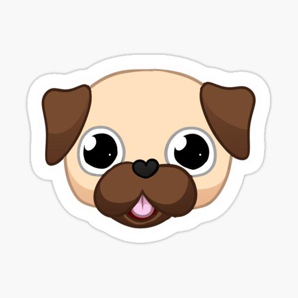 Pug Pattern Sticker
