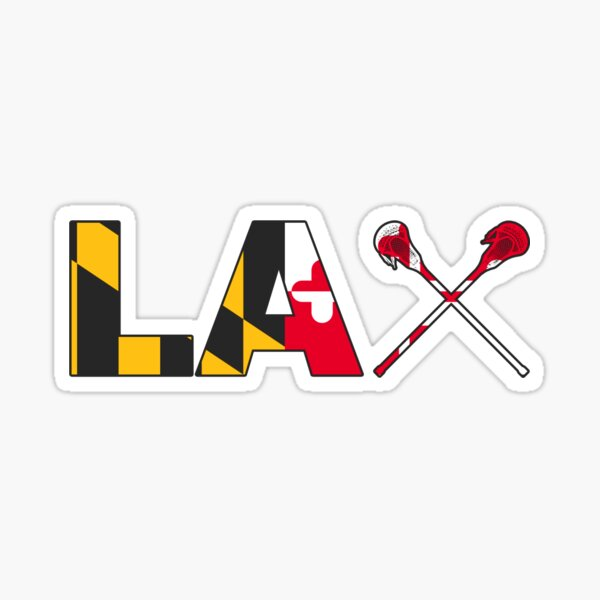 Maryland Lacrosse (LAX) Stick Sticker Sticker