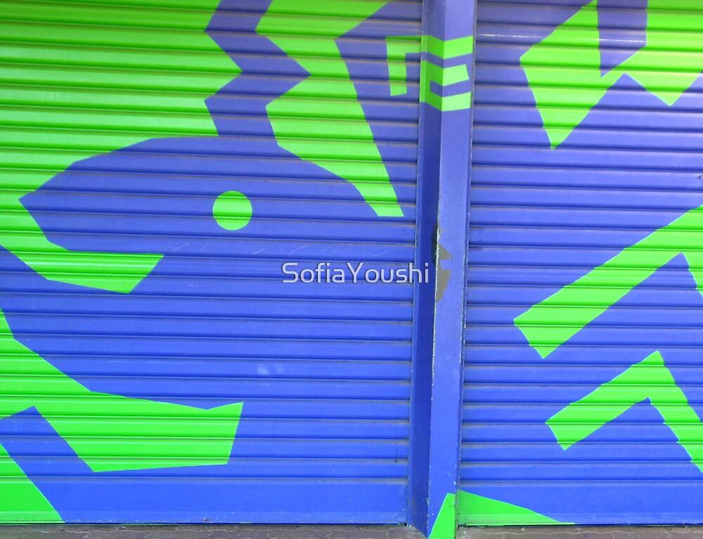 GARAGE DOOR MURAL by SofiaYoushi