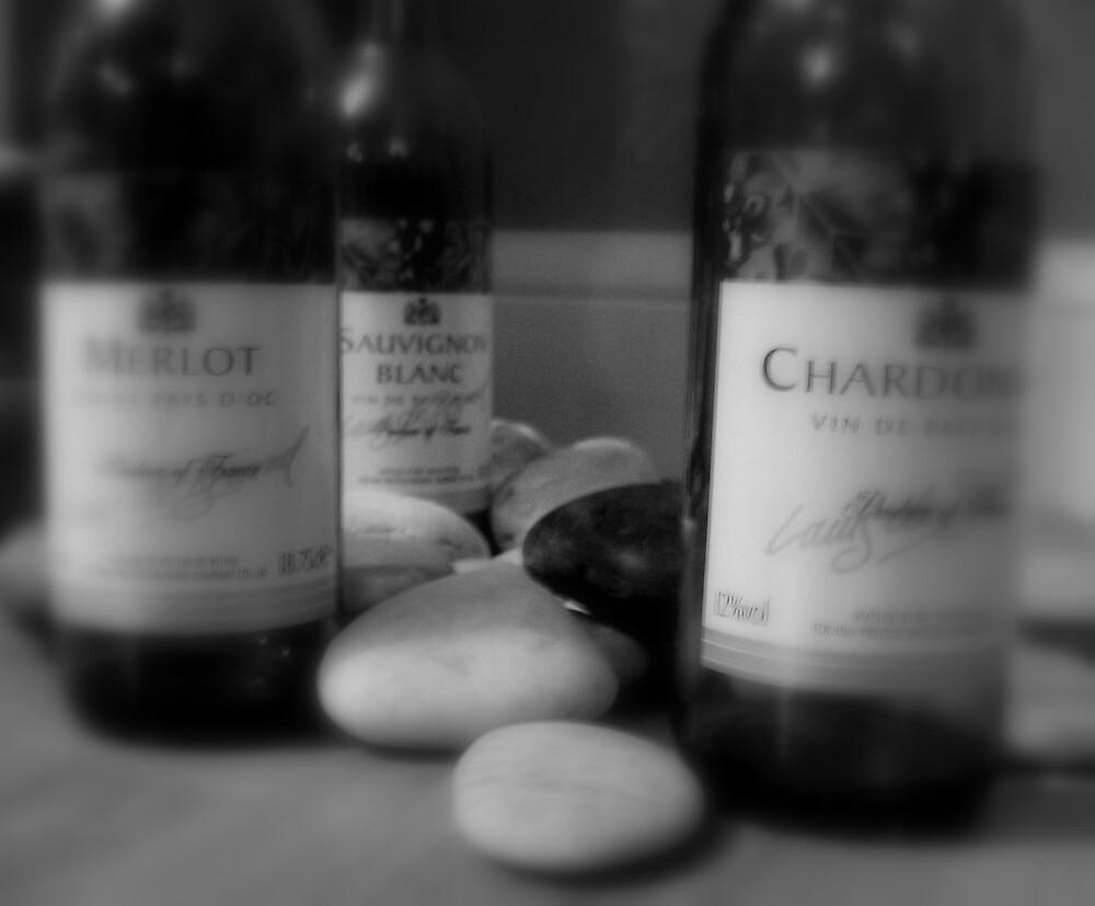 Wine on Pebbles by LaurenMac