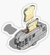 mobile toaster ready to serve Sticker