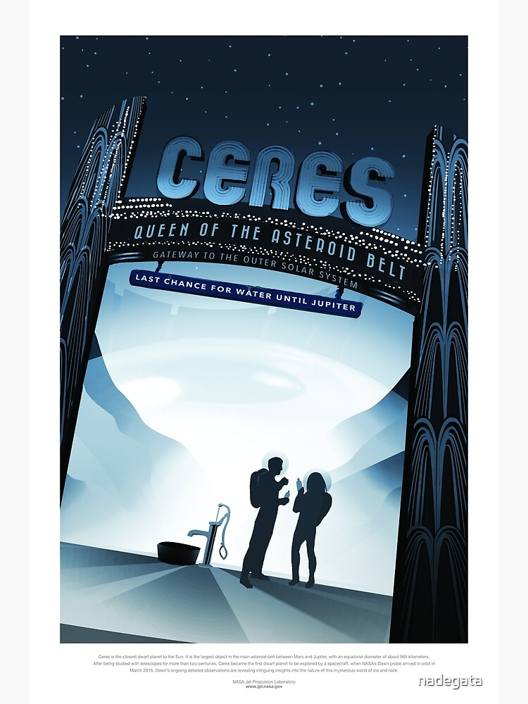NASA Space Tourism Posters: Ceres by nadegata