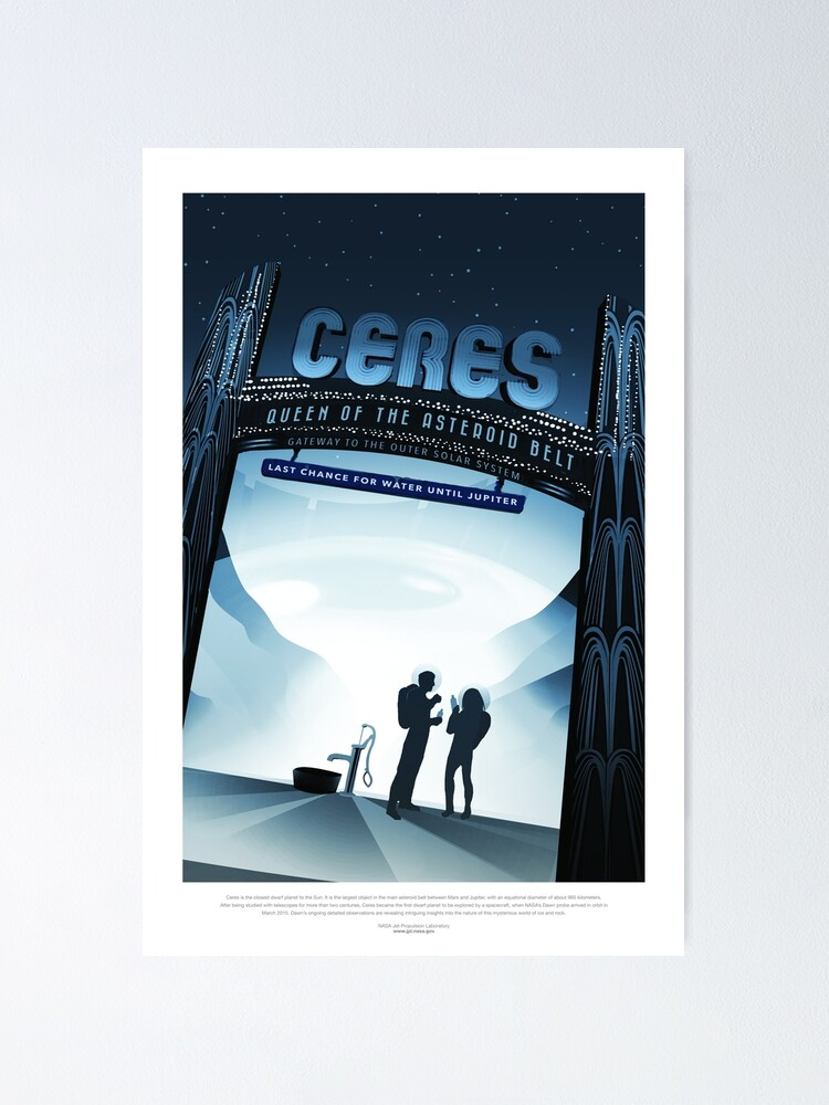 Alternate view of NASA Space Tourism Posters: Ceres Poster