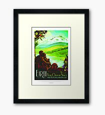 NASA Space Tourism Posters: Earth Framed Print