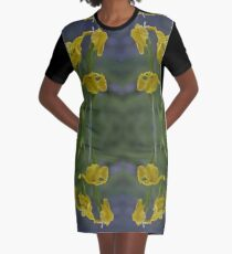 Yellow Flag Iris - Donegal Graphic T-Shirt Dress
