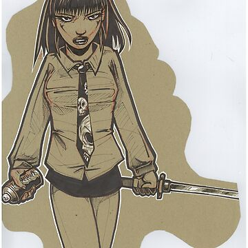 Ninja Graffiti School Girl by JosieBaldwin