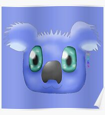 Indigo Koala Poster
