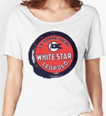 Retro grunge style Belgian Beer White Star Women's Relaxed Fit T-Shirt