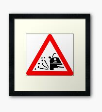 Warning sideways MX-5 ahead Framed Print