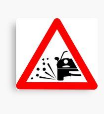 Warning sideways MX-5 ahead Canvas Print