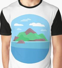 Island Landscape Graphic T-Shirt