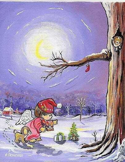 CHRISTMAS FRIENDS by fredscherer2
