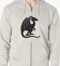 The Smirking Dragon Zipped Hoodie
