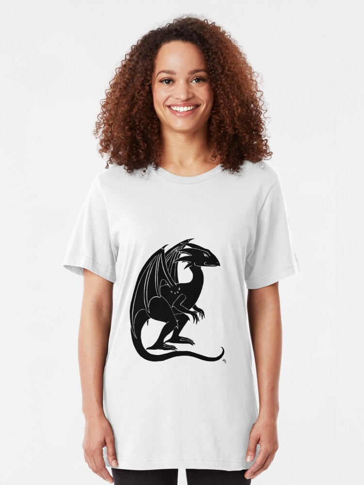 Alternate view of The Smirking Dragon Slim Fit T-Shirt
