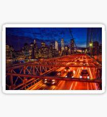 Brooklyn Bridge in the evening Sticker