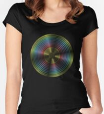 Rainbow Record Women's Fitted Scoop T-Shirt
