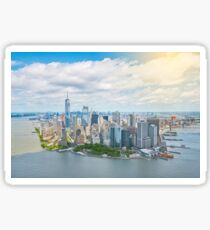 New York - Manhattan Aerial View Sticker