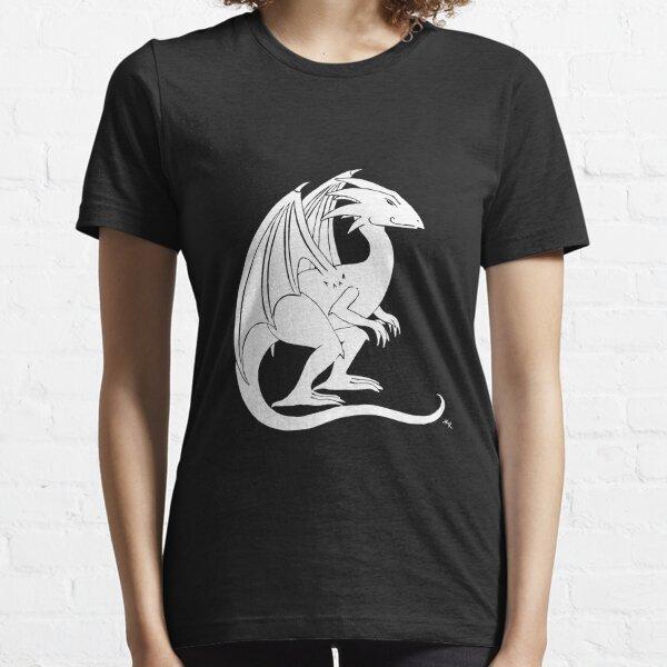 Smirking Dragon (white) Essential T-Shirt