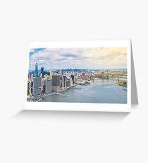 NYC Manhattan Aerial View Greeting Card
