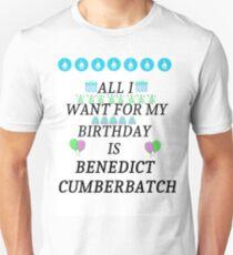 Birthday Cumberbatch Unisex T-Shirt