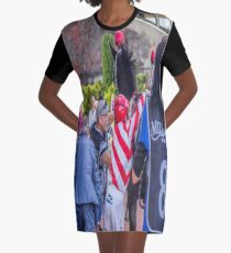 Jockey Getting On A Racehorse Graphic T-Shirt Dress