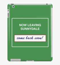 Sunnydale Sign - Now Leaving iPad Case/Skin