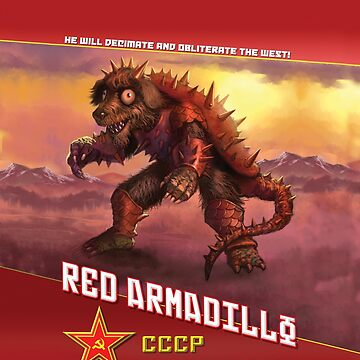 "World War Kaiju ""Red Armadillo"" Shirt by 01Publishing"