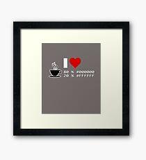 Kaffee / Tee - #000000, #FFFFFF - Programmierer, Web-Developer, Grafik-Designer, Multimedia Producer Framed Print