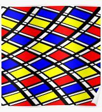 Curved Modern Art Pattern Poster