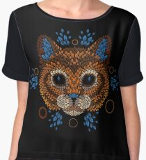 Cat Face Women's Chiffon Top