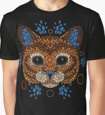Cat Face Graphic T-Shirt