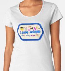 ❤↷I Love Animals-Animal Lovers↶❤ Women's Premium T-Shirt