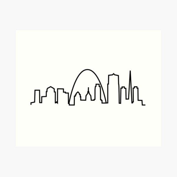 St. Louis City Skyline Art Print