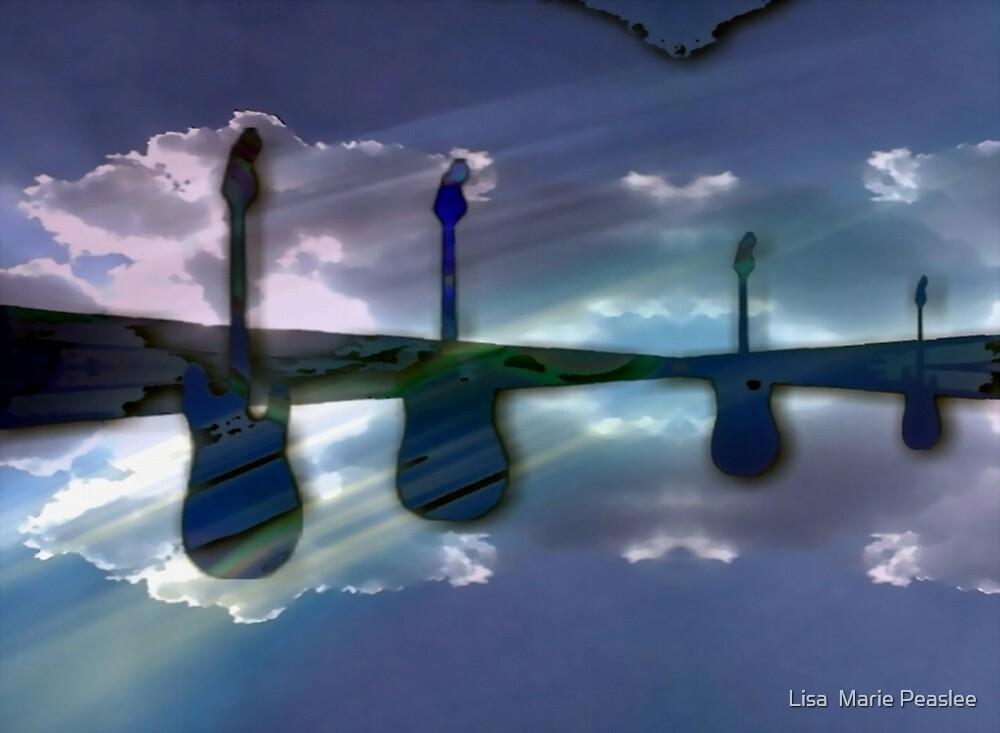 guitar sky by Lisa  Marie Peaslee