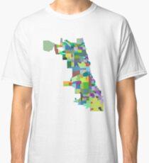 Chicago Neighborhood Map Classic T-Shirt