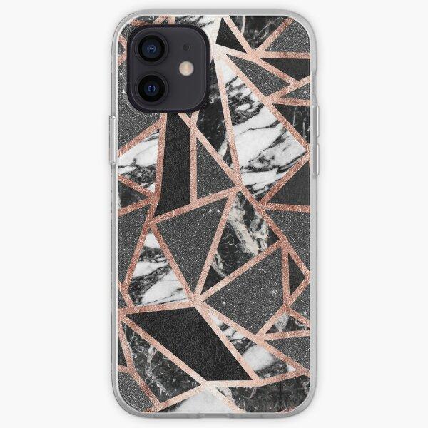 paillettes noires Coque souple iPhone