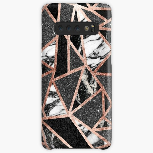 Modern Rose Gold Glitter Marble Geometric Triangle Samsung Galaxy Snap Case