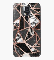 Modern Rose Gold Glitter Marble Geometric Triangle Case/Skin for Samsung Galaxy