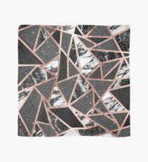 Modern Rose Gold Glitter Marble Geometric Triangle Scarf