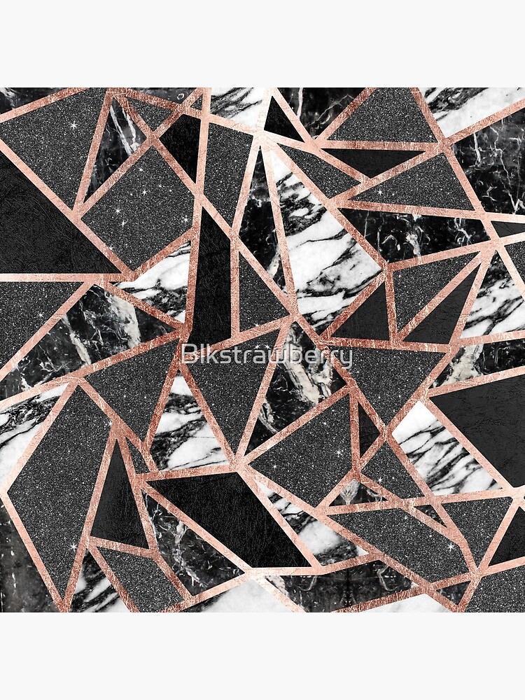 Modernes Rosen-Goldfunkeln-Marmor-geometrisches Dreieck von Blkstrawberry