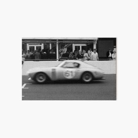 Racing Ferrari Black and White Photograph Art Board Print