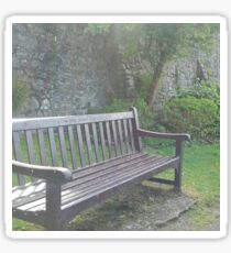 lonely bench Sticker
