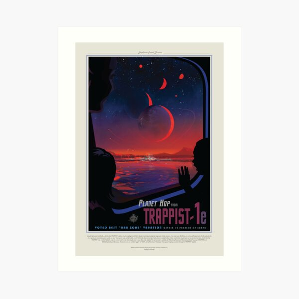 NASA Space Tourism Posters: Trappist 1 Art Print