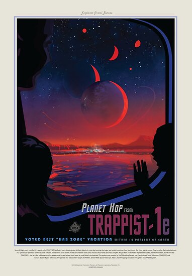 NASA Space Tourism Posters: Trappist 1 by nadegata
