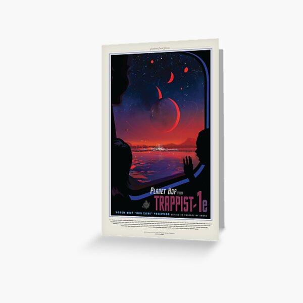Affiches du tourisme spatial de la NASA: Trappiste 1 Carte de vœux