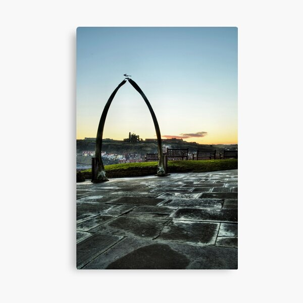 Whitby Whalebone Frost Canvas Print