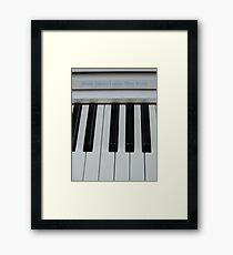 Music Speaks Framed Print