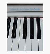 Music Speaks Photographic Print