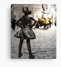 Fearless girl statue Canvas Print